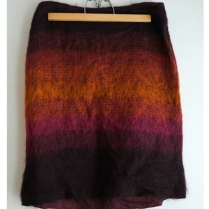 Anthropologie Fuzzy Skirt